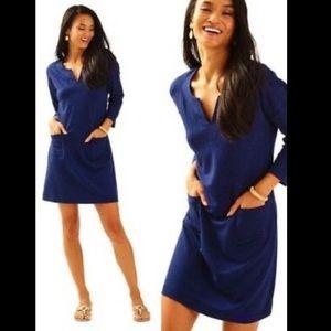 NWT Lilly Pulitzer Joyce Dress sz XS True Navy